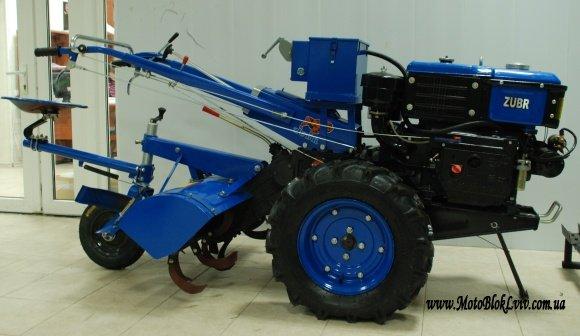 Мотоблок дизельний Зубр JR-Q12Е 12 к с R195 з елек