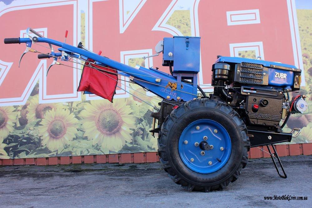 Мотоблок дизельний Зубр JR-Q79Е PLUS 10 к с з елек